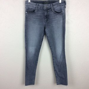 Mother Looker Ankle Fray Huntress Wash Jeans Sz 28